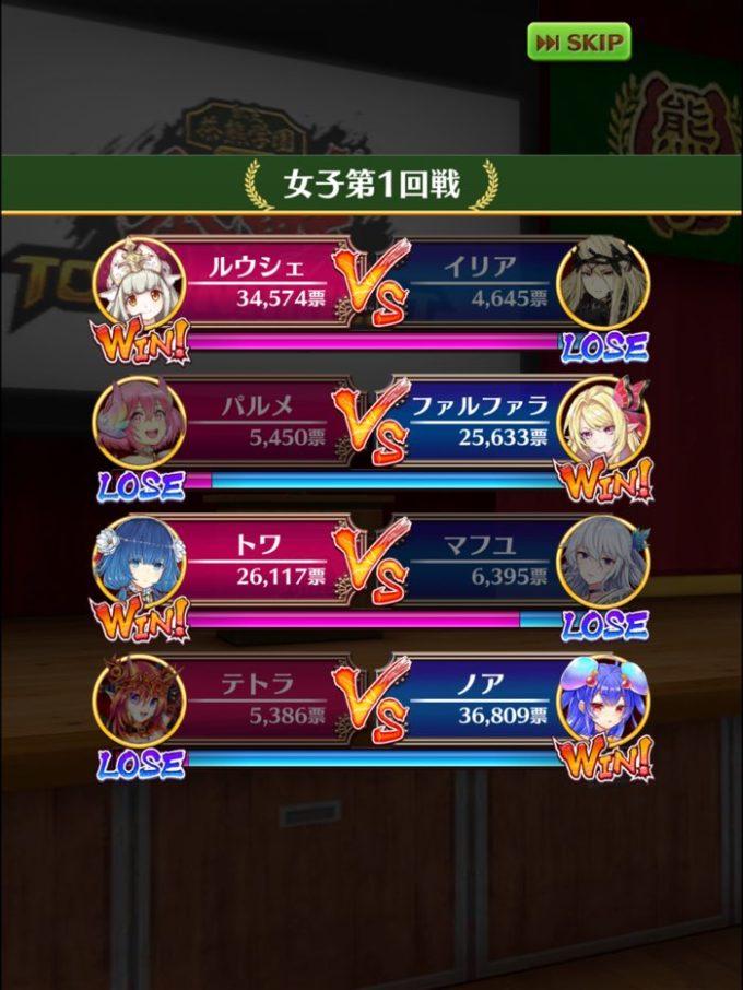 1回戦結果 女3