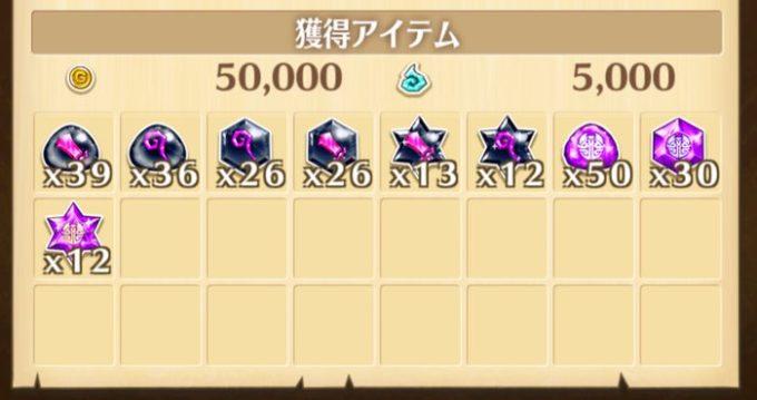 ☆15の報酬