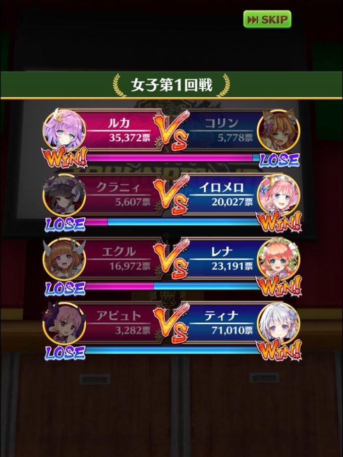 1回戦結果 女4