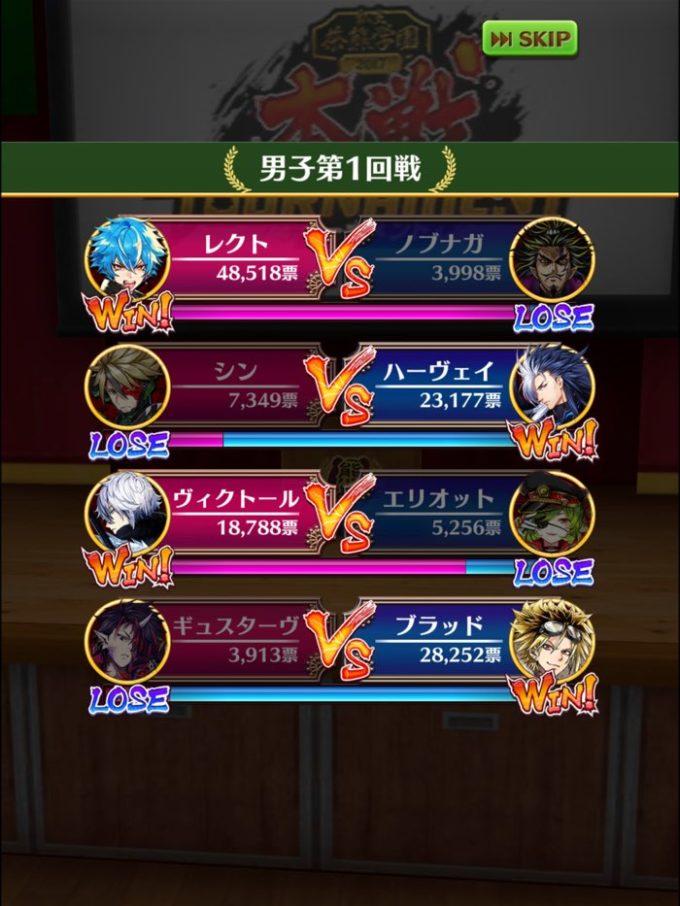 1回戦結果2