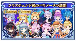 7月9日に 上方修正予定のキャラクター