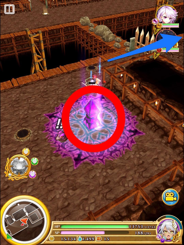 エリア2左下の召喚石を破壊すると フットスイッチが出現。踏むと右側へ移動出来る。その先にシークレットルート